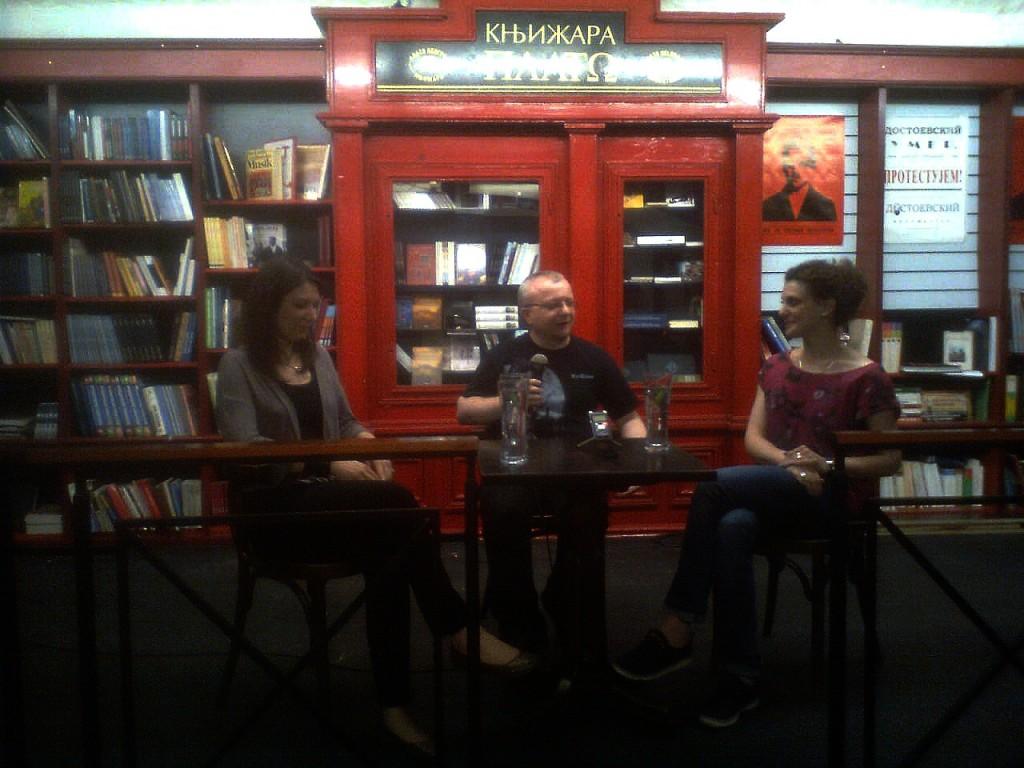 Milena Dasukidis, dr Dejan Ognjanović, Aleksandra Rajković, Festival književne fantastike Art-Anima 2