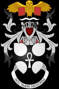 Grb Ser Terija Pračeta, i moto: Ne plašimo se Kosača