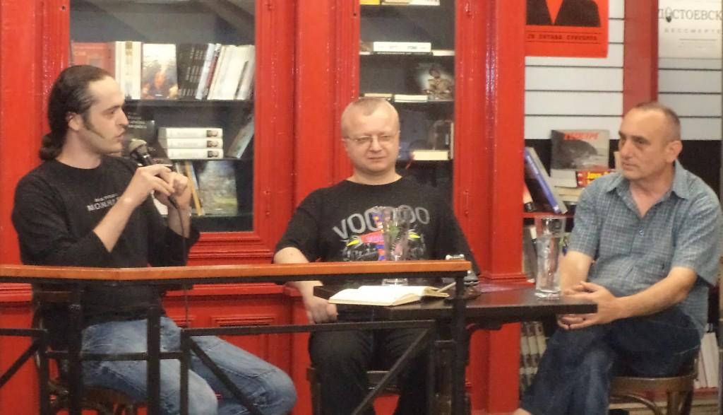 Mladen Milosavljević, dr Dejan Ognjanović i Vlada Arsić, Festival književne fantastike Art-Anima 2
