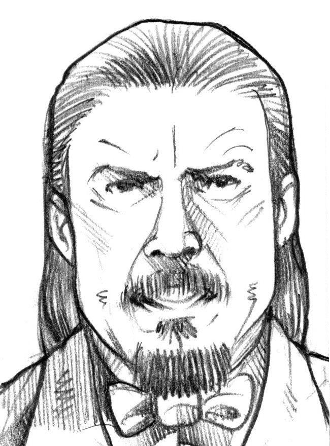 Vatroslav Vostok, Borin alter-ego iz stripa Kapetan Nitrat. Crtež: Aleksandar Sotirovski