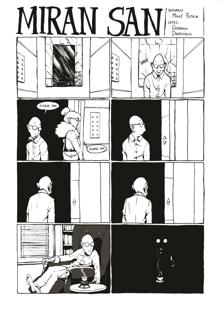Miran san, strip, str. 1; scenario: MIloš Petrik, crtež: Gordana Dramićanin