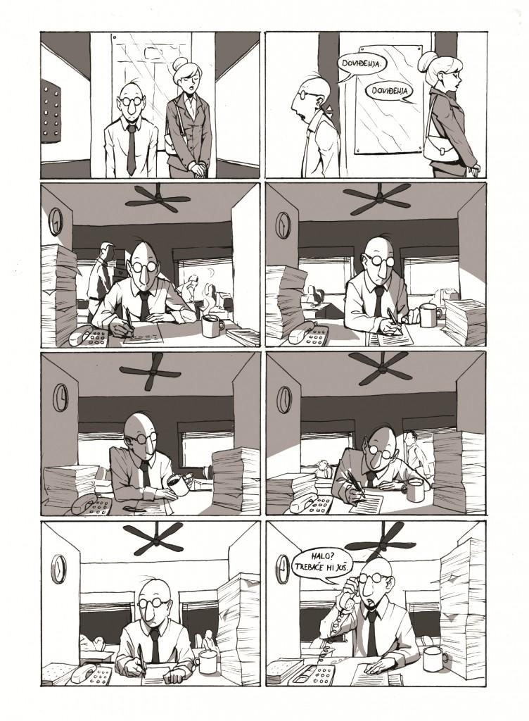 Miran san, strip, str. 3; scenario: MIloš Petrik, crtež: Gordana Dramićanin